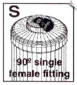 90 Degree Single Female Fitting