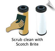 Scrub Clean with Scotch Brite
