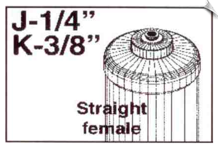 "1/4"" Straight Female Fitting"